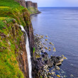 Kilt rock coastline cliff in Scottish highlands — Stock Photo
