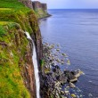 Kilt rock coastline cliff in Scottish highlands — Stock Photo #31650559