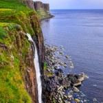 Kilt rock coastline cliff in Scottish highlands — Stock Photo #31650559
