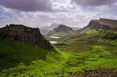 Landscape view of Quiraing mountains on Isle of Skye, Scottish h — Stock Photo