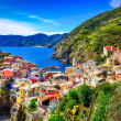 Stock Photo: Scenic view of colorful village Vernazzin Cinque Terre
