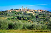 Scenic landscape view of San Gimignano, Italy — Stock Photo