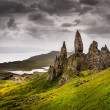 Постер, плакат: Landscape view of Old Man of Storr rock formation Scotland