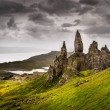 Stock Photo: Landscape view of Old Mof Storr rock formation, Scotland