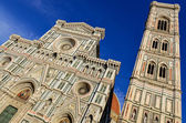 View of Duomo cathedral and Campanila tower in Florence — Stock Photo