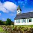 Small old church Pingvallkirkja in Thingvellir, Iceland — Stock Photo