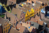 Detail of old rooftops and colorufl houses in historical town — Stock Photo