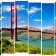 Golden gate bridge vivid landscape view in stripes, San Francisc — Stock Photo #41041133