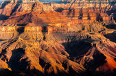Detail of Grand Canyon rock fomation at colorful sunrise — Stock Photo