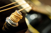 Close up detail of guitar string — Stock Photo