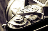 Detail of old classic camera in vintage style — Stock Photo