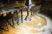 Detail of inside mash tun while making whisky — Stock Photo