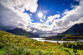 Scenic view of the lake and mountains, Inverpolly, Scotland — Stock Photo