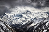 Himalayas mountains scenic view with dramatic sky — Stock Photo