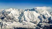 Himalayas mountains Everest range panorama — Stock Photo