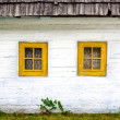 Detail of colorful windows on old traditional house — Stock Photo #48387539