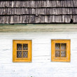 Detail of colorful windows on old traditional house — Stock Photo #48387567