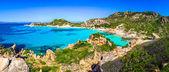 Güzel okyanus kıyı şeridi sahil panorama maddalena Adaları, ben — Stok fotoğraf