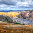 Scenic landscape view of Landmannalaugar colorful mountains — Stock Photo #51140537