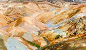 Colorful geothermal hot spring field hills in Kerlingafjoll, Ice — Stock Photo
