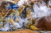 Colorful geothermal hot spring field Kerlingafjoll, Iceland — Stock Photo