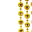 Royalty-Free Stock Photo: Background made of a brilliant celebratory beads of golden color