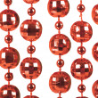 Background made of a brilliant celebratory beads of red color - ストック写真