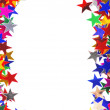 Star shaped confetti of different colors frame - Stock Photo