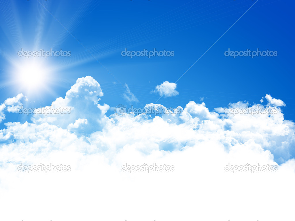 Blue sky background  Stock Photo #12677430