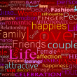 Seamless pattern made from words which relate with word love - Photo