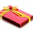 Red Gift Box on white background - Foto Stock