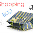 Beatiful shopping bag - Stock Photo