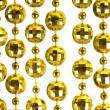 Background made of a brilliant celebratory beads of golden color - Foto Stock