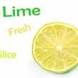 Lime slice - Stockfoto