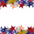 Colored stars background for your text on photo, and other. - Stock Photo
