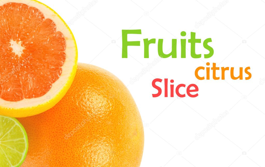 Citrus fruits on white — Lizenzfreies Foto #13846956