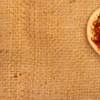Royalty-Free Stock Photo: Spices on burlap