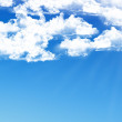 Blue sky background with tiny clouds - Photo