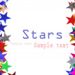 Star shaped confetti of different colors frame - Photo