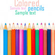 Set of color pencils for creativity on a white background - Stock Photo