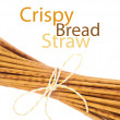 Crispy bread straw - Stockfoto