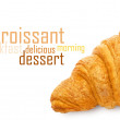 Fresh and tasty croissant - Stock Photo