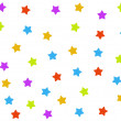 Seamless background with colorful stars - Stock fotografie