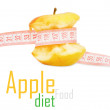 Apple with measurement - Stock Photo