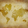 Map world on paper background Style Grunge - Stock Photo