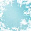 Grunge image of blue sky. - Photo
