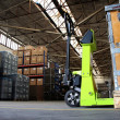 Pallet jack in industrial hall — Stok Fotoğraf #12878995