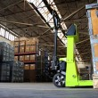 Pallet jack in industrial hall — Stock Photo #12878995