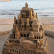 Stock Photo: Large sandcastle in spain