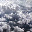 Clouds on the sky from above - Stock Photo